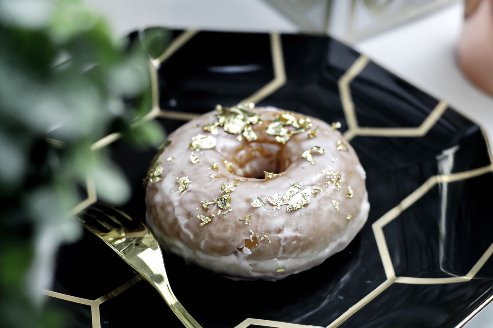 Doughnut Covered in Gold Leaf