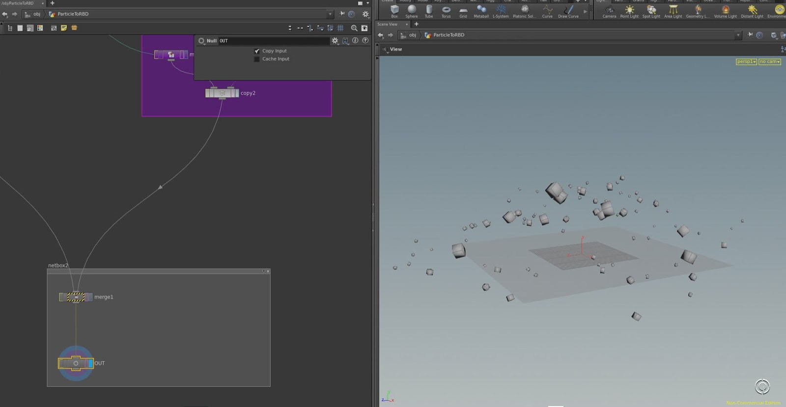 Learn squared houdini particles