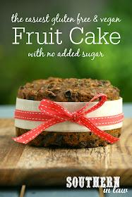 The Easiest Gluten Free & Vegan Fruit Cake Recipe with No Added Sugar - low fat, gluten free, vegan, refined sugar free, healthy, egg free, dairy free