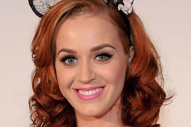 Maquiagem de festa Katy Perry ruiva