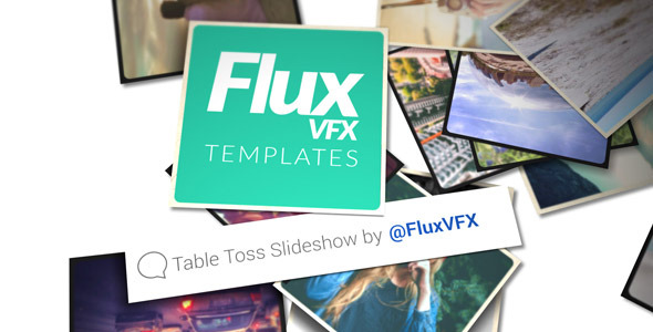 VideoHive Table Toss Slideshow