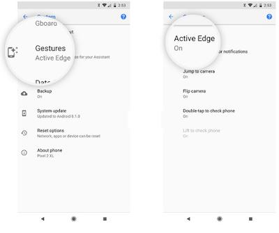 """Cara Menampilkan / Mengaktifkan """" Active  Edge """" di Google Pixel 2 dan Pixel 2 XL, Begini caranya"""