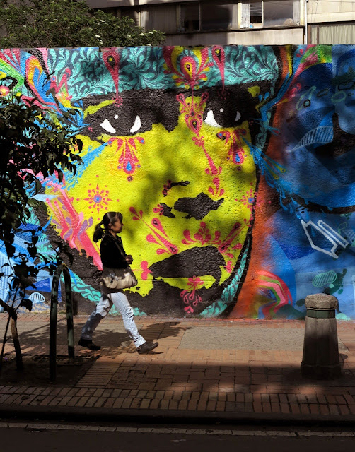 Street Art Collaboration by Stinkfish and Zas on the streets of Bogota, Colombia. 2
