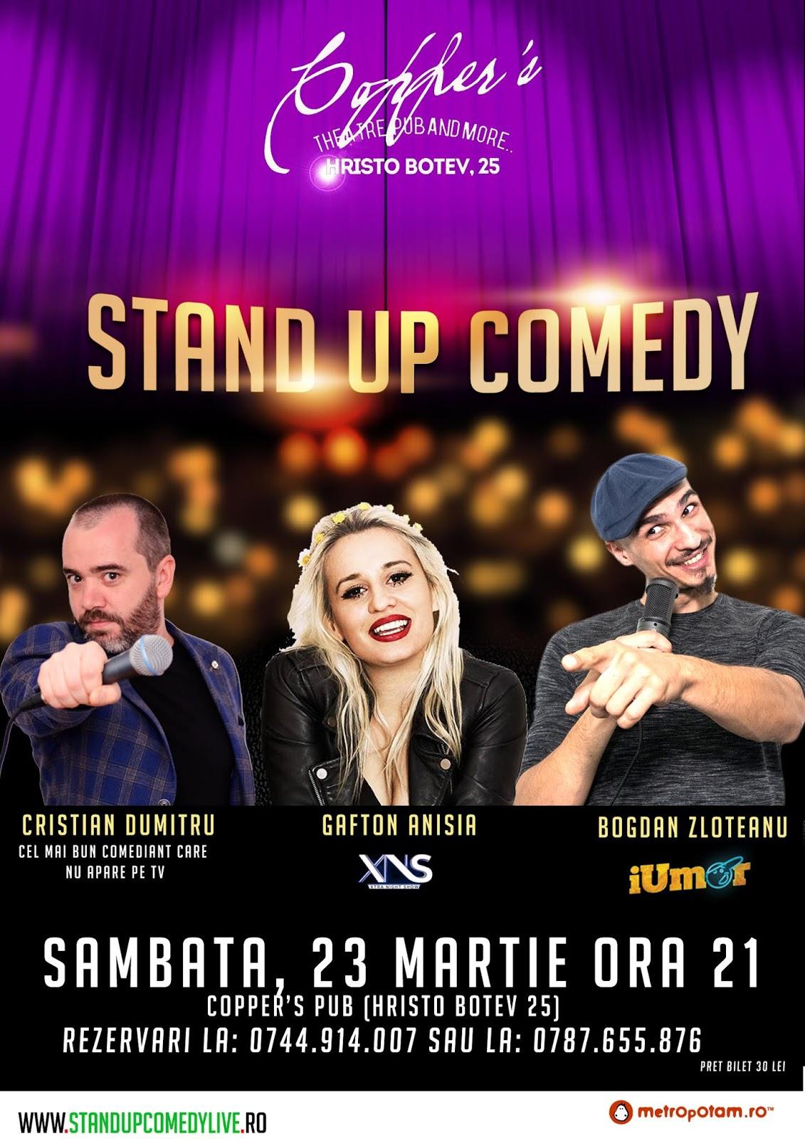 Stand-Up Comedy Sambata 23 Martie Bucuresti