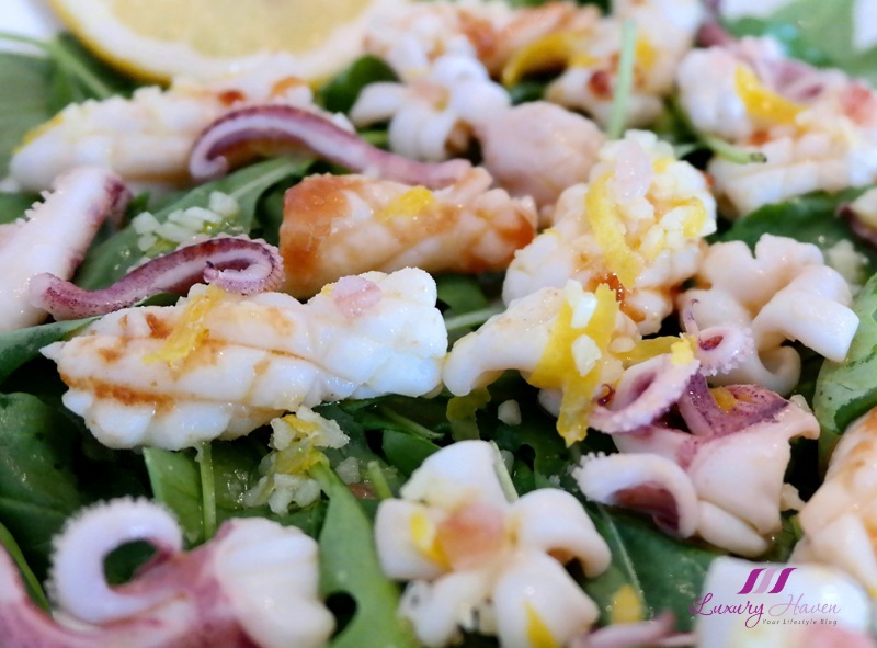 purelyfresh grilled calamari salad recipe arugula