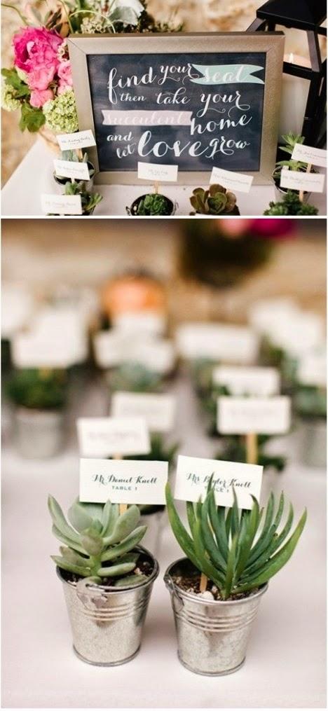 Bridal Trends: Succulent Wedding Favors