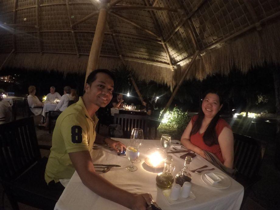 Dinner at Ocean Restaurant in Atmosphere Resorts & Spa