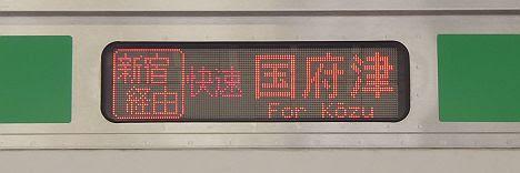 湘南新宿ライン 新宿経由 国府津行き1 E231系
