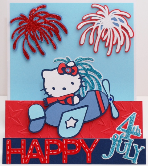 Laverne 39 s crafty adventures for Hello kitty 4th of july coloring pages