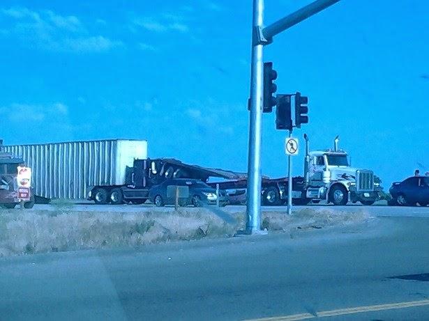 highway 180 big rig collision mccall avenue fresno county crash