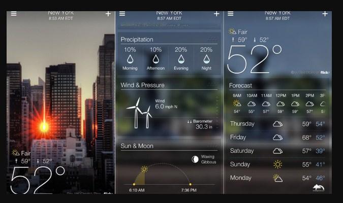 Widget Prakiraan Cuaca iPhone - Yahoo! Weather
