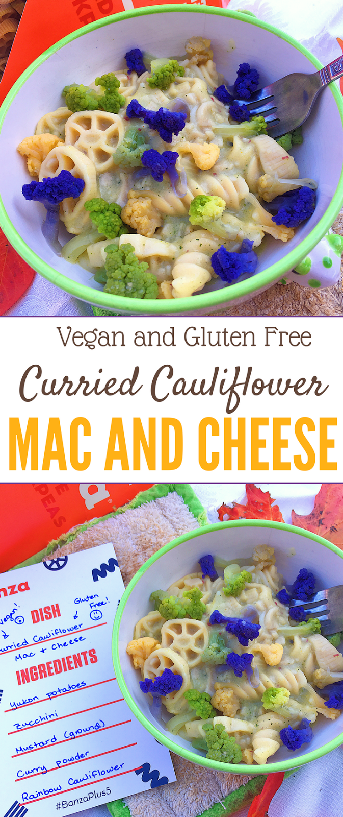 Curried Cauliflower Vegan Mac and Cheese (Gluten Free)