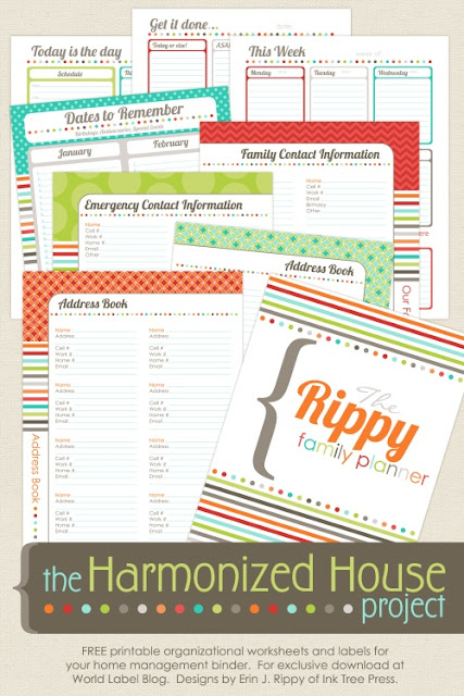 Household Notebook Printables