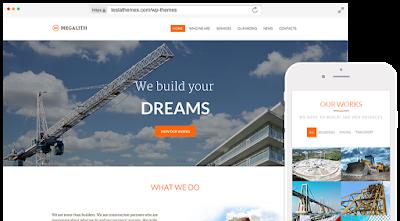 Megalith-Construction Wordpress Theme