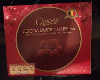 A box of Choceur Cocoa-Dusted Truffles, from Aldi