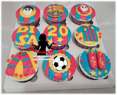 Kue ulang tahun karakter Club Barcelona