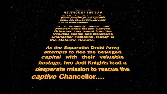 www.fertilmente.com.br - tres horas foi o tempo que demorou para finalizar a filmagem do texto de abertura de Star Wars