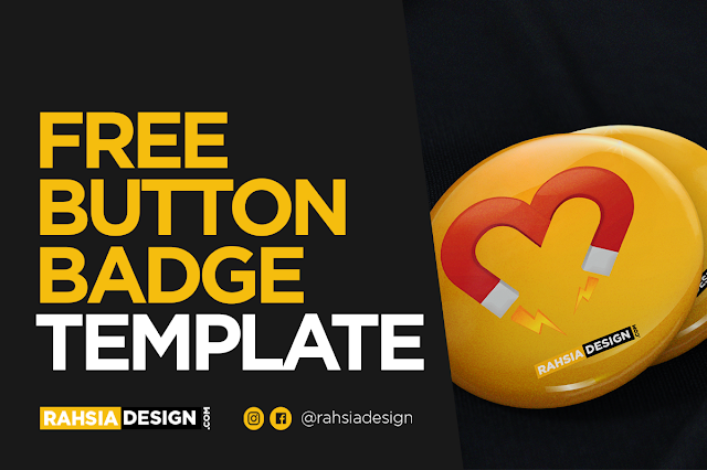 FREE Button Badge Template Design
