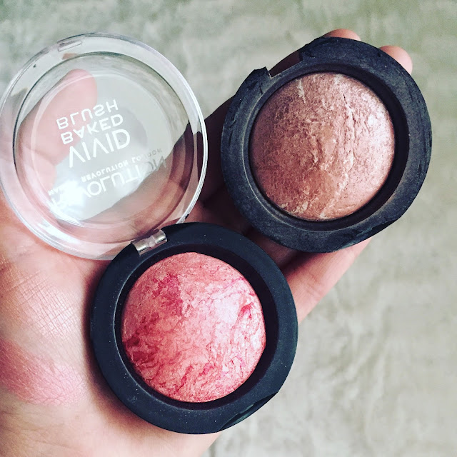 vivid baked blush makeup revolution (hard day y love me the best)