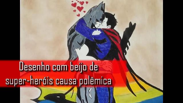 Vídeo: Desenho com beijo de super-heróis causa polêmica.
