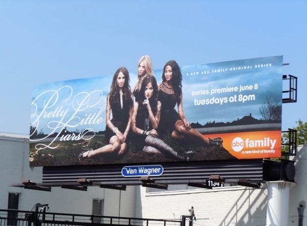 Pretty Little Liars series launch billboard