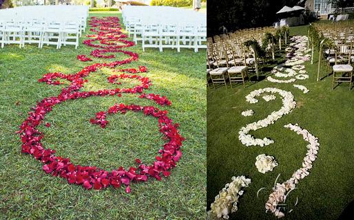 Bashert Weddings: Flower Petal Aisle Runners