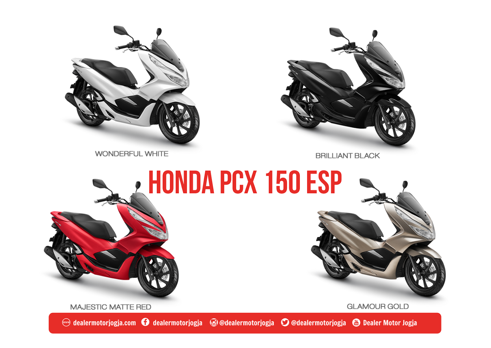 Harga Promo Cash Kredit Honda Jogja All New PCX 150 Juni 2018