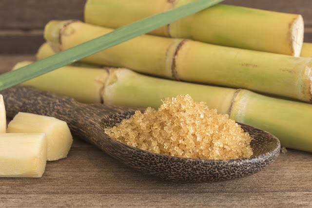 Cuillere de sucre de canne à sucre