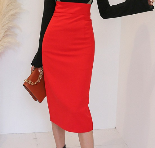 Contrast Strap Midi Suspender Skirt