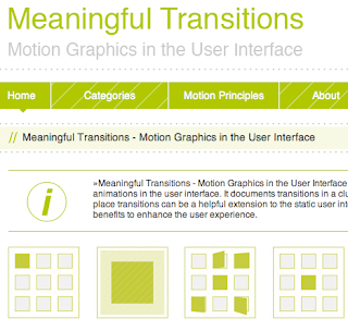 A Thesis On Transitions Ux