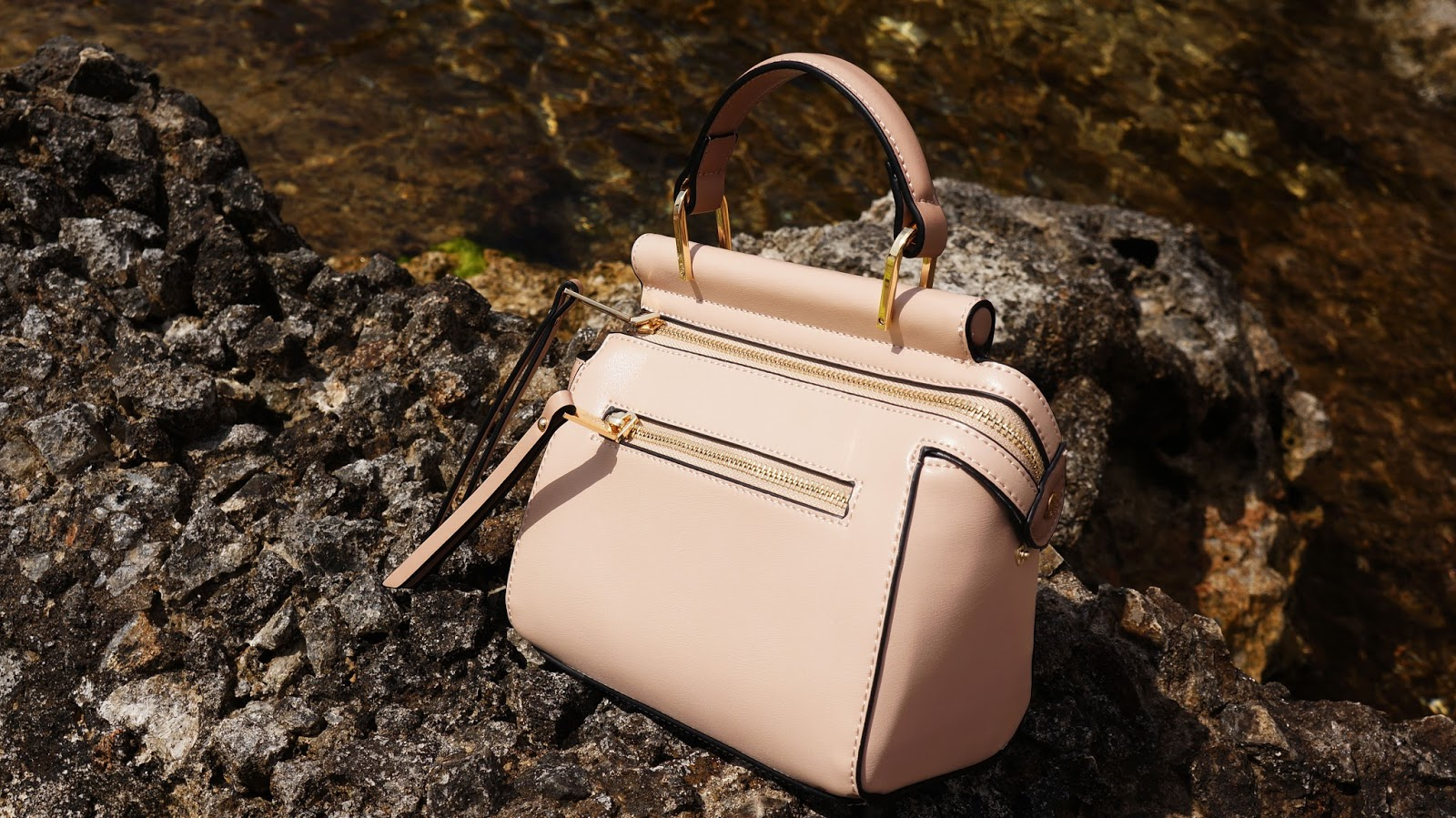 Dune London Mini shoulder bag in blush pink