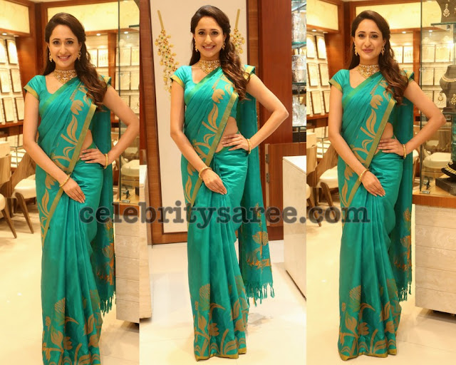Pragya Jaiswal Simple Soft Silk Saree
