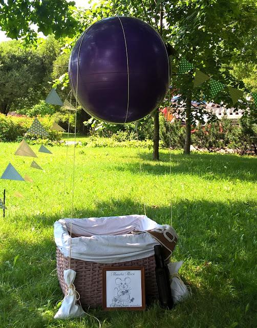 приключенческая фотозона, воздушный шар в парке, мышка Мося, дримленд