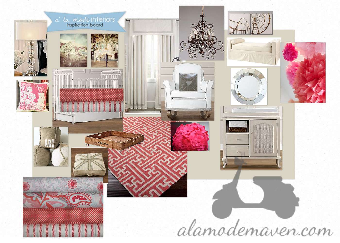 Alamode Turquoise Or Coral Nursery A La Mode Interiors