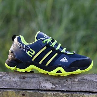 Jual Sepatu Tracking Adidas AX2 Navy Hijau