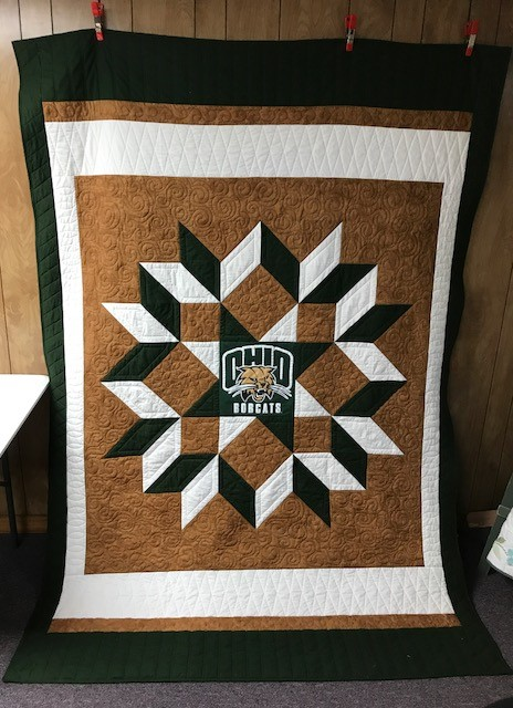 Quilting In The Bunkhouse Ohio University Quilt Done