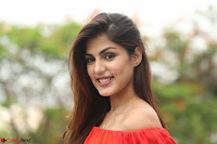 Rhea Chakraborty in Red Crop Top and Denim Shorts Spicy Pics ~  Exclusive 293.JPG