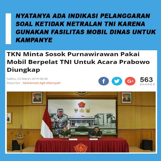 TKN Minta Sosok Purnawirawan Pakai Mobil Berpelat TNI Tuk Acara Prabowo Diungkap