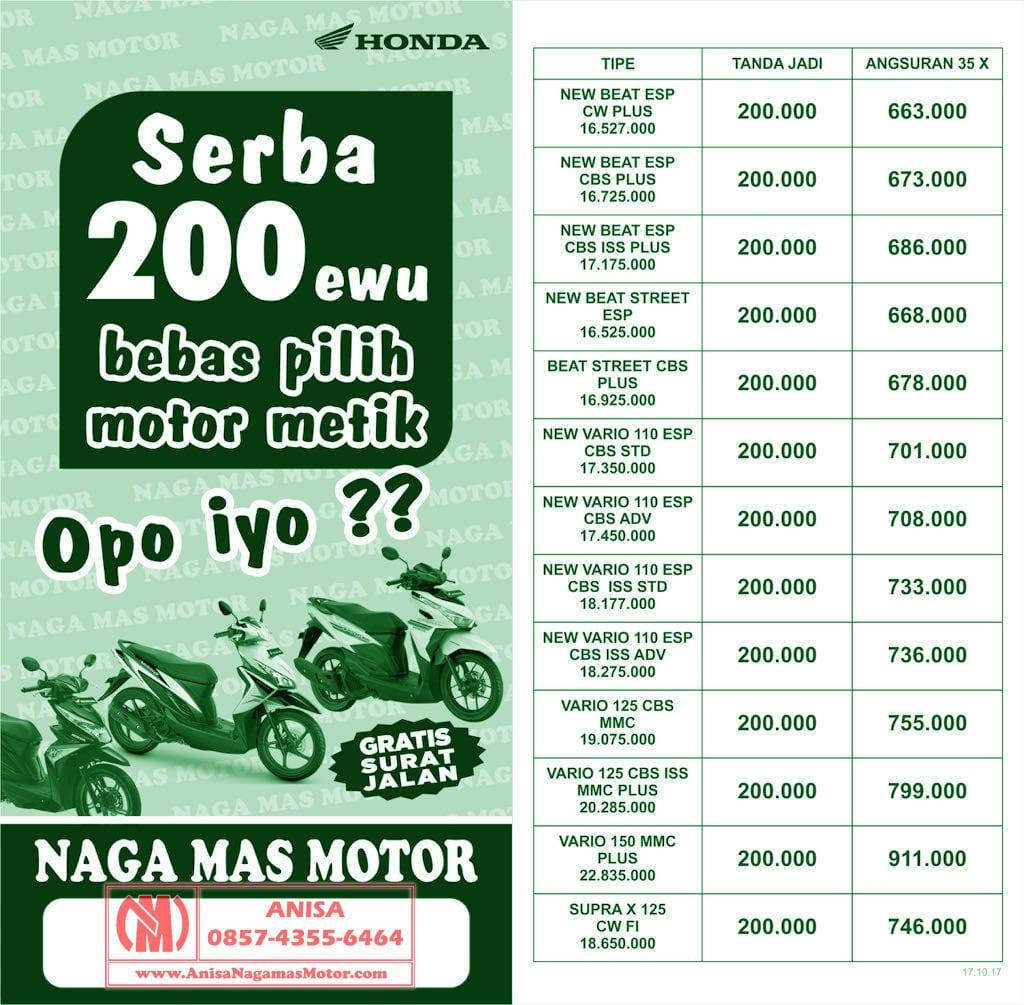 Anisa Counter Sales Dealer Nagamas Motor Klaten New Vario 110 Esp Cbs Iss Grande White Yogyakarta Promo Naga Mas Honda Kredit Beat Supra X 125 Dp Ringan 200rb