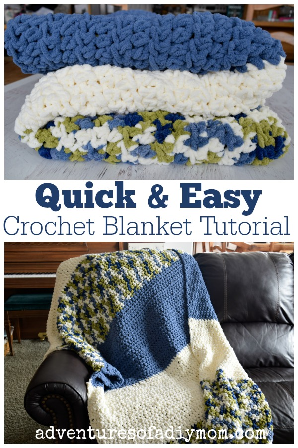 Easy Crochet Blanket Tutorial Adventures Of A Diy Mom