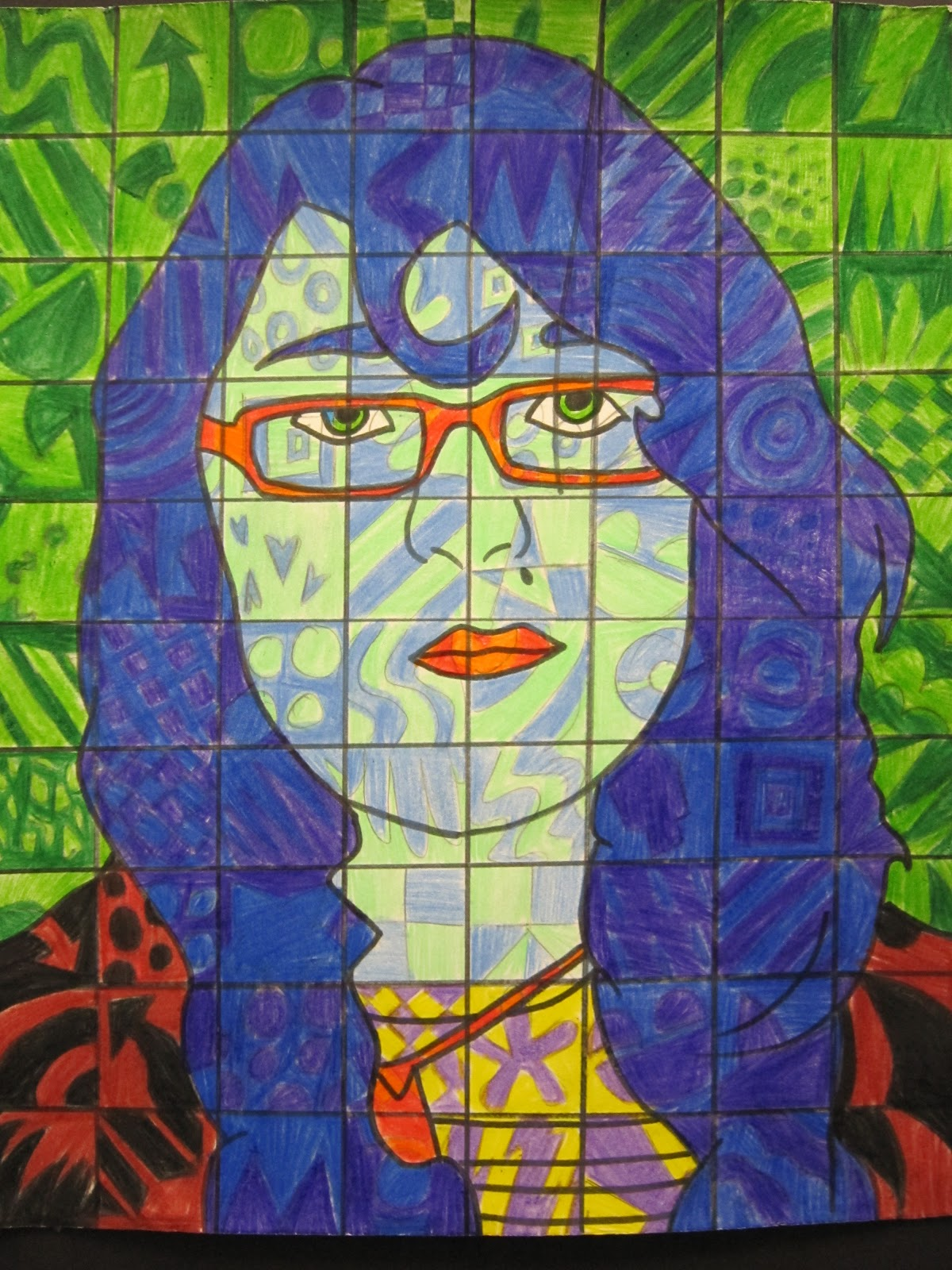 Mrs Wille S Art Room Self Portraits In Style Of Chuck Close