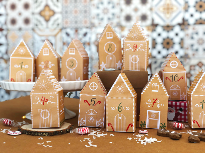 free printable download advent calendar, children crafts, diy, do it yourself, Christmas, Holidays