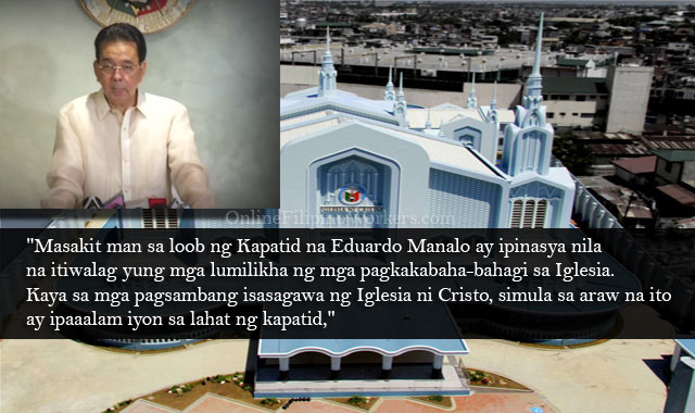 Head of Iglesiani Cristo, Eduardo Manalo Expels His Mother and Brother from Their Church