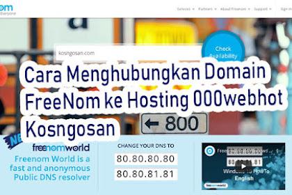 Cara Menghubungkan Domain Freenom ke Hosting 000webhost +Panduan Video