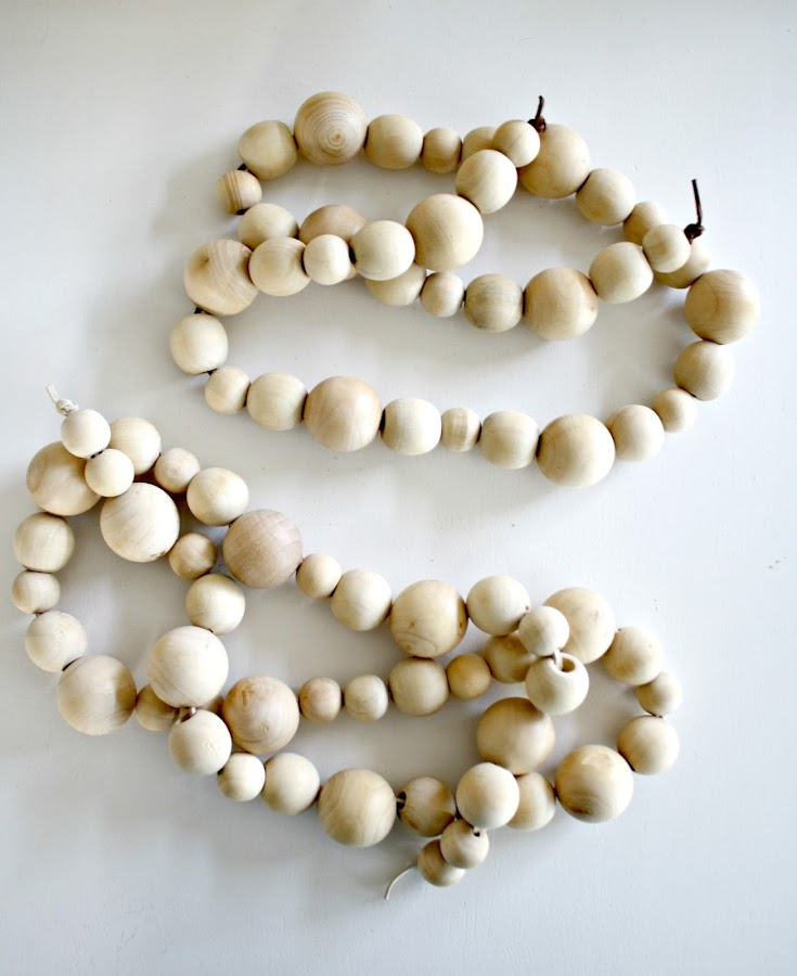How to make decorative wood bead strands