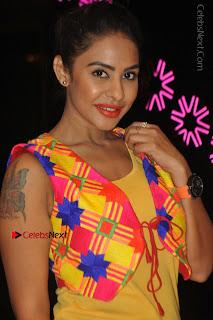 Telugu Actress Model Sri Reddy Latest Stills in Yellow Dress  0041.JPG