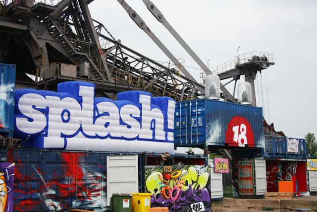 splash logo creative corner graffiti straßenkunst ferropolis