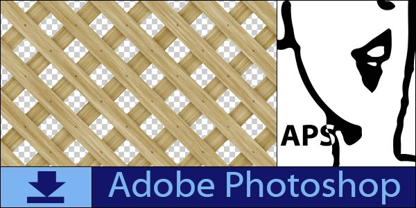 Wood Lattice Seamless Tiling Patterns for Adobe Photoshop