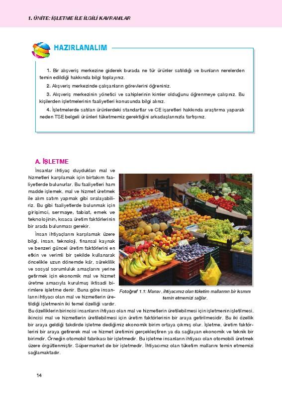 İşletme Ders Kitabı Cevapları Cem Yayınları Sayfa 14