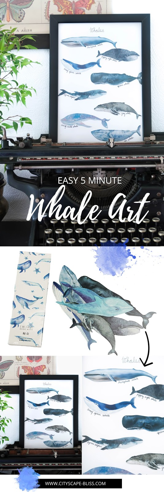Easy 5 minute whale art for less than £1